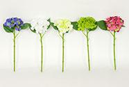 Hortenzie, mix barev bílá, krémová, zelená,růžová, modrá. Květina umělá.