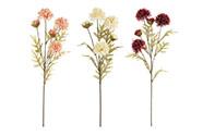 Chryzantéma. Mix 3 barev. Květina umělá.