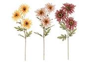 Chryzantema. Mix 3 barev Květina umělá.