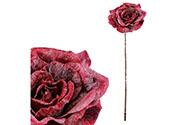 Růže v tm.fialové barvě, s glitry.