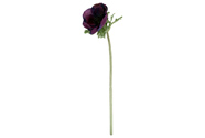 Anemonka, barva  fialová. Květina umělá.