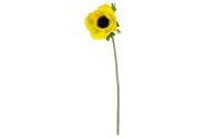 Anemonka, barva  žlutá. Květina umělá.