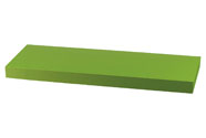 Nástěnná polička 60 cm, barva zelená. Baleno v ochranné fólii.