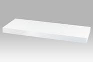 Nástěnná polička 60 cm, barva bílá. Baleno v ochranné fólii.