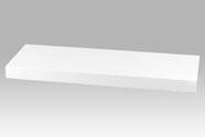 Nástěnná polička 60 cm, barva bílá-vysoký lesk. Baleno v ochranné fólii.