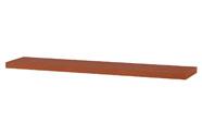 Nástěnná polička 120cm, barva třešeň. Baleno v ochranné fólii.