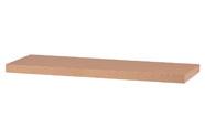 Nástěnná polička 80cm, barva buk. Baleno v ochranné fólii.