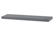 Nástěnná polička 80cm, barva šedivá - vysoký lesk. Baleno v ochranné fólii.