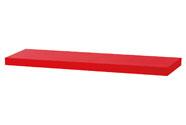 Nástěnná polička 80cm, barva červená - vysoký lesk. Baleno v ochranné fólii.