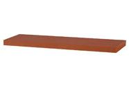 Nástěnná polička 80cm, barva třešeň.  Baleno v ochranné fólii.