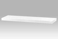 Nástěnná polička 80cm, barva bílá- vysoký lesk. Baleno v ochranné fólii.