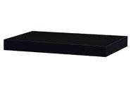 Nástěnná polička 40 cm, barva černá - vysoký lesk. Baleno v ochranné fólii.