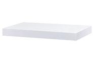 Nástěnná polička 40cm, barva bílá- vysoký lesk.Baleno v ochranné fólii.