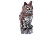 Plašič ptáků - sova, plastová zahradní dekorace