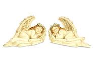 Anděl, dekorace z polyresinu, mix 2 tvarů, cena za 1 kus