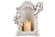 Anděl z polyresinu s LED světlem. Dekorační zboží.