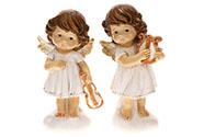Andílek s harfou nebo houslemi, mix 2 druhů, polyresin. Cena za 1 kus