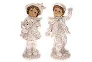 Dívka nebo chlapec, mix 2 druhů, barva krémová.Polyresin. Cena za 1 kus.