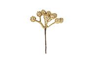 Vánoční přízdoba barva zlatá, cena za 1 svazek (polybag 12ks)