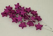 Vánoční přízdoba fialová. Cena za 1 polybag-20ks