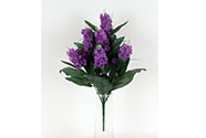 Umělá květina - šeřík, mix 4 barev  (12 hlav)