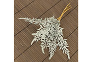 Větvička umělá stříbrná , cena za 1 svazek(12 ks polybag)