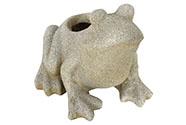 Květináč  mrazuvzdorný, tvar žáby,barva béžová