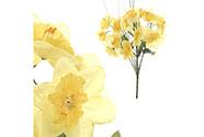 Narcisky, puget, barva žlutá. Květina umělá.