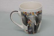 Hrneček porcelánový,dekor slona, obsah 330 ml