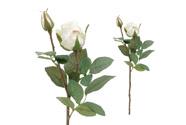 Růže, barva bílá. Květina umělá.