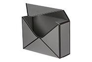 Flower box papírový, barva šedá
