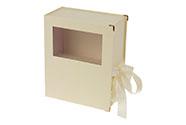Flower box papírový, barva krémová