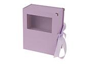Flower box papírový, barva lila