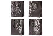 Taška dárková papírová, mix 4 druhů, cena za 1 kus,zvířecí motiv