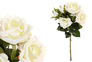 Růže puget, barva krémová. Květina umělá.