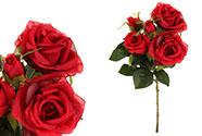 Růže puget, barva červená. Květina umělá.