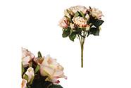 Růže puget, barva růžová. Květina umělá.