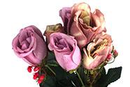 Růže puget, barva lila-smetanová. Květina umělá.