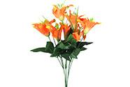 Lilie puget, barva oranžová. Květina umělá.