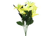 Lilie puget, barva žlutá. Květina umělá.