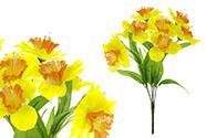Narciska, květina umělá, barva žluto-oranžová