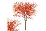 Trs rozmarýnu v červeno-oranžové barvě, umělá květina.