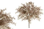 Eukalyptus, květina umělá plastová, barva měděná ojíněná