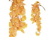 Ginkgo biloba, převis, umělá květina, podzimní žlutá barva.