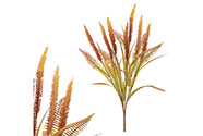 Trs kvetoucí trávy v podzimní žluto-oranžové barvě, umělá květina