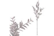 Eukalyptus větev - stříbrná barva s glitry.