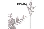 Eukalyptus větev - bílá barva s glitry.