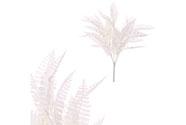 Kapradí - bílá barva s glitry.