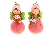 Růžová víla, polyresin, mix  dvou druhů, cena za 1 kus