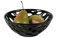 Keramická dekorační mísa - černá barva